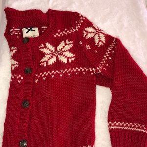 Gilly Hicks Medium Chunky White Snowflake Sweater